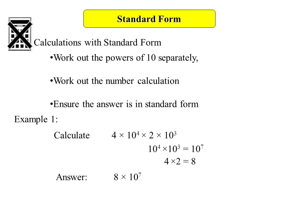 Standard Form Objectives B Gradeuse Standard Index Form With And