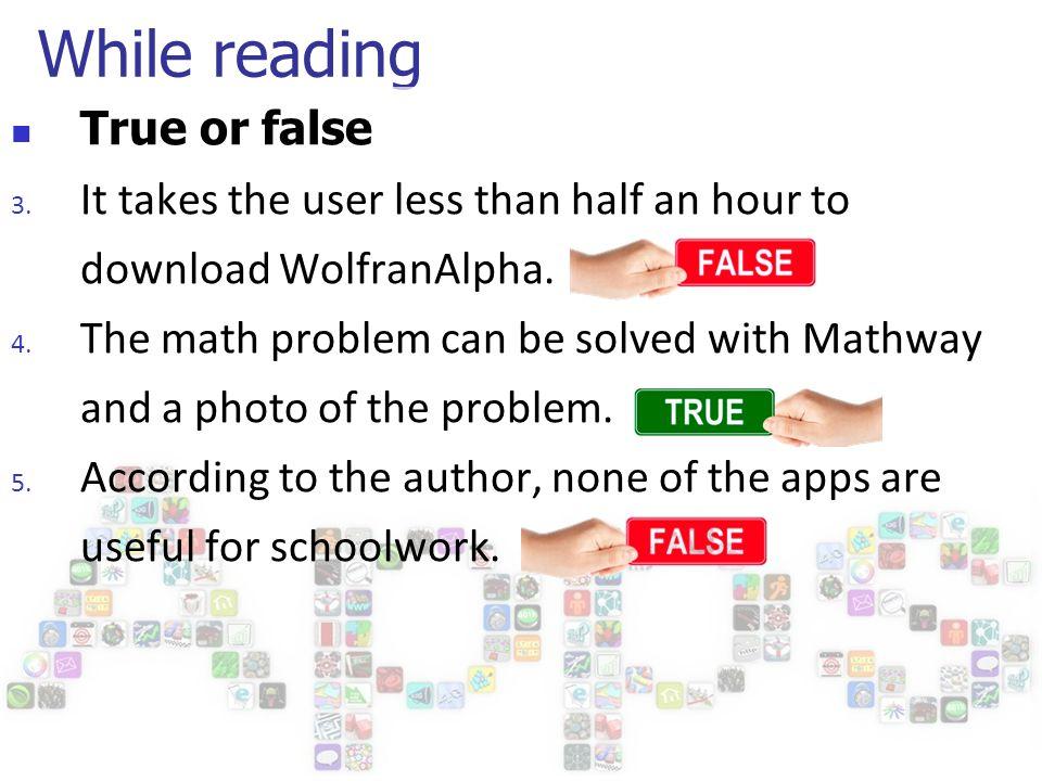 高中进阶(2285 期) 1 版When Apps Are Not Appropriate. - ppt download