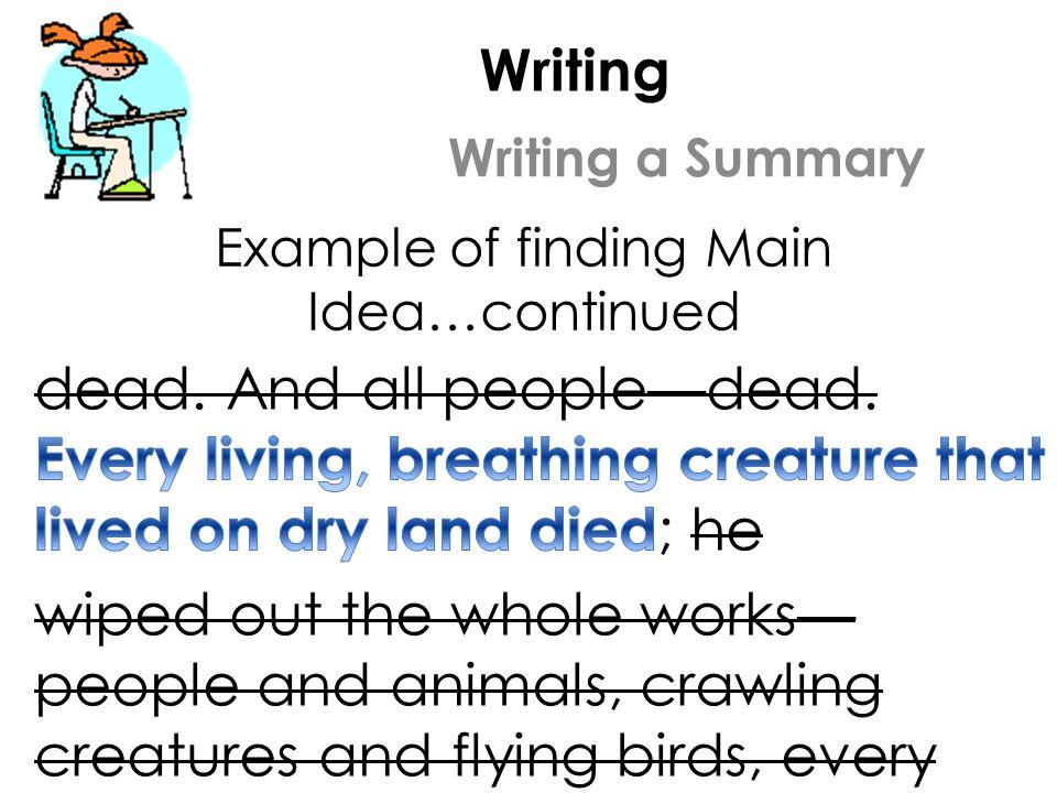 writing a summary example