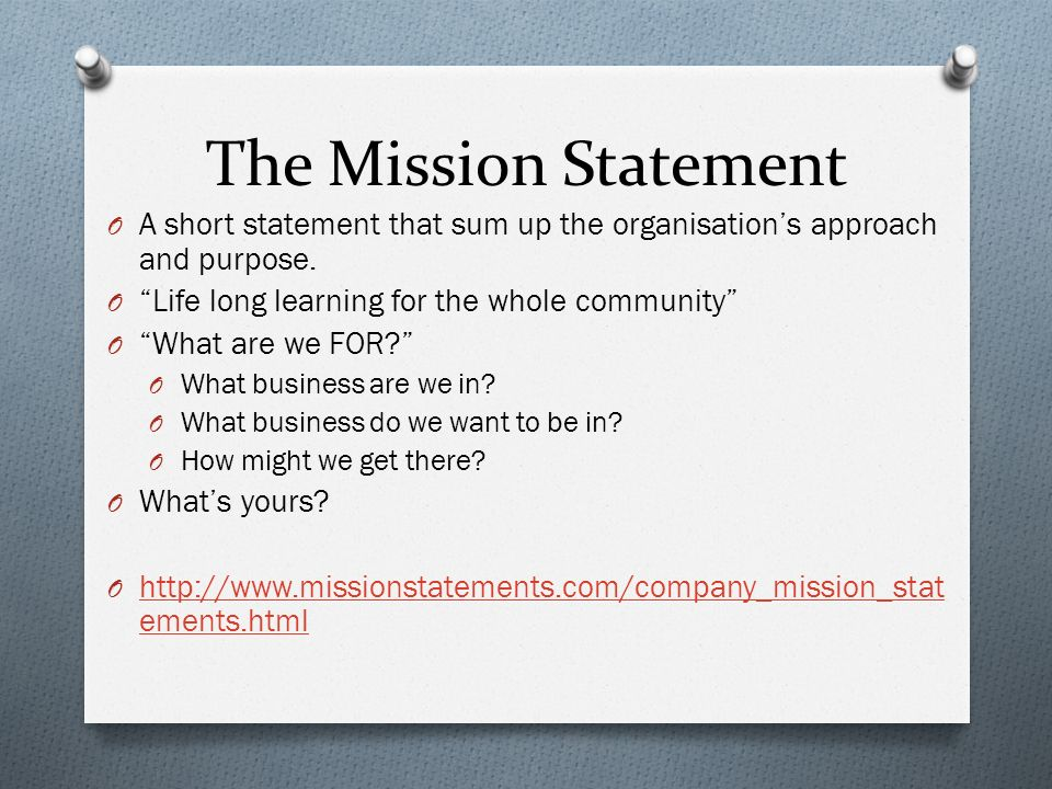 short mission statements