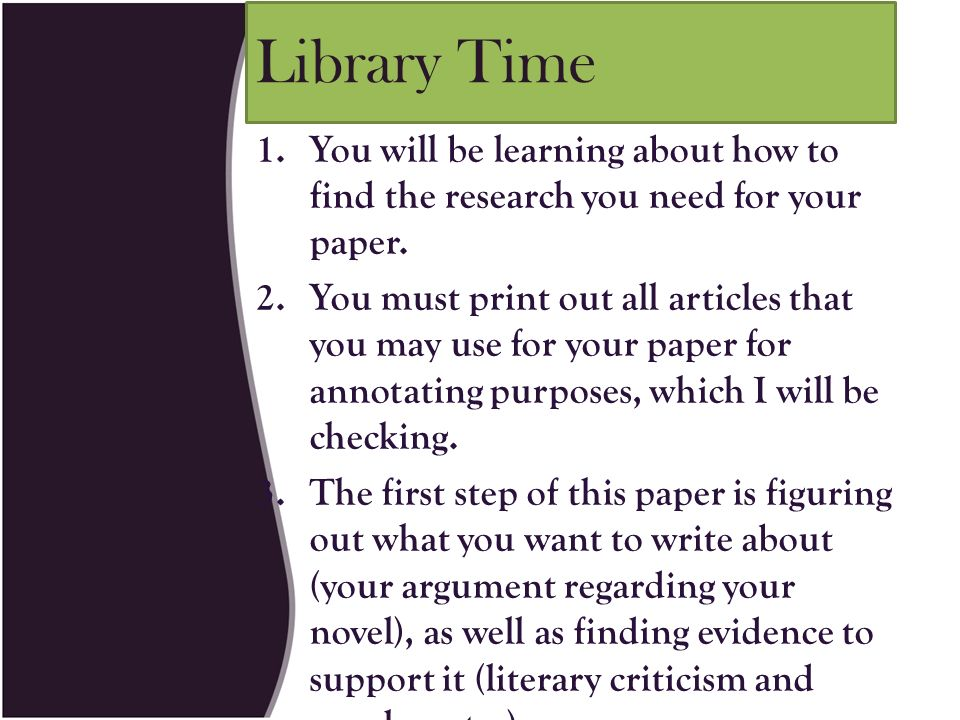 write research paper literary criticism Teach students how to write an interpretive essay and how to write a literary analysis with these simple steps.