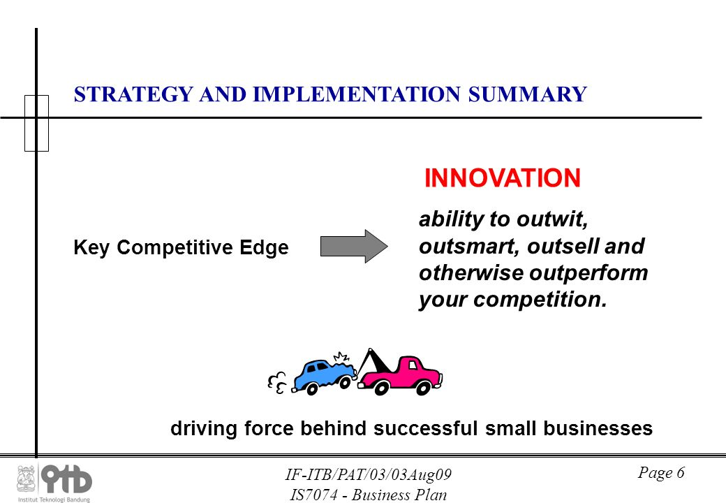 Strategy and implementation business plan