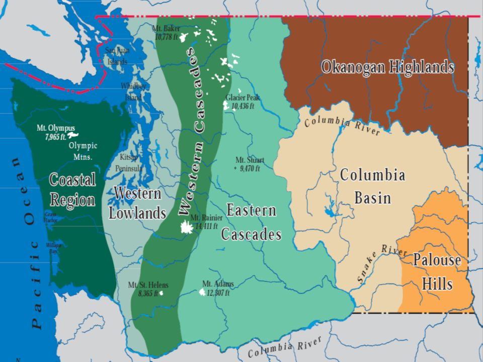 The Seven Geographic Regions Ppt Download - Cascade range on us map