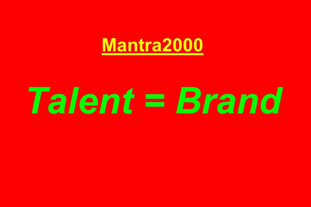Mantra2000 Talent = Brand