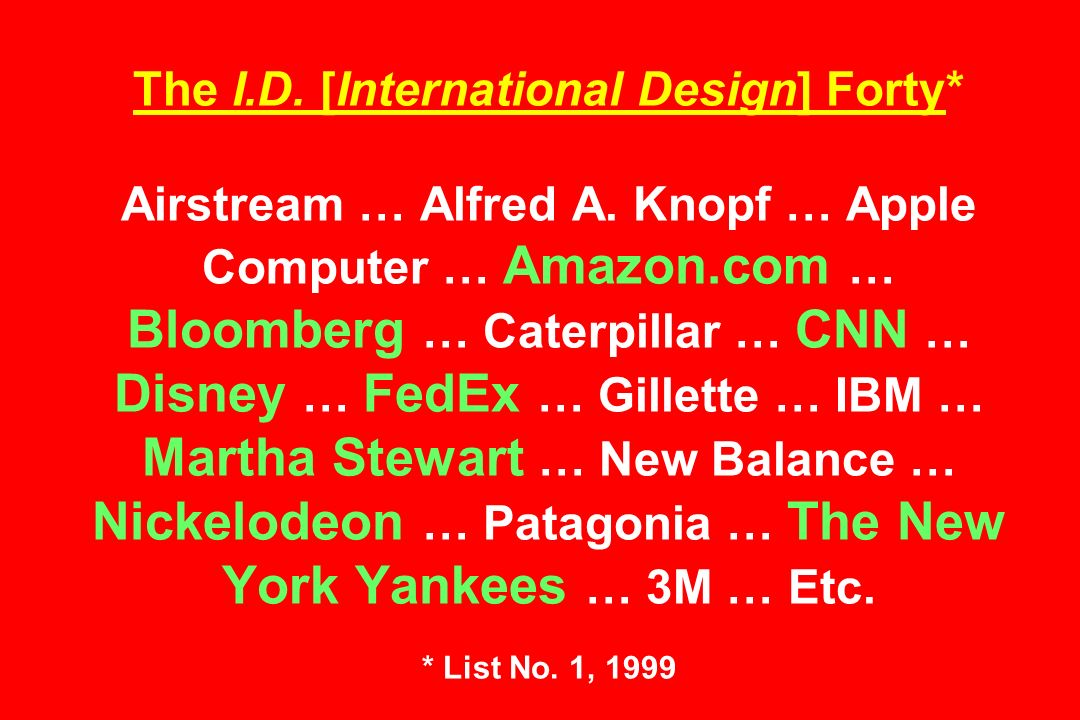 The I.D. [International Design] Forty* Airstream … Alfred A.