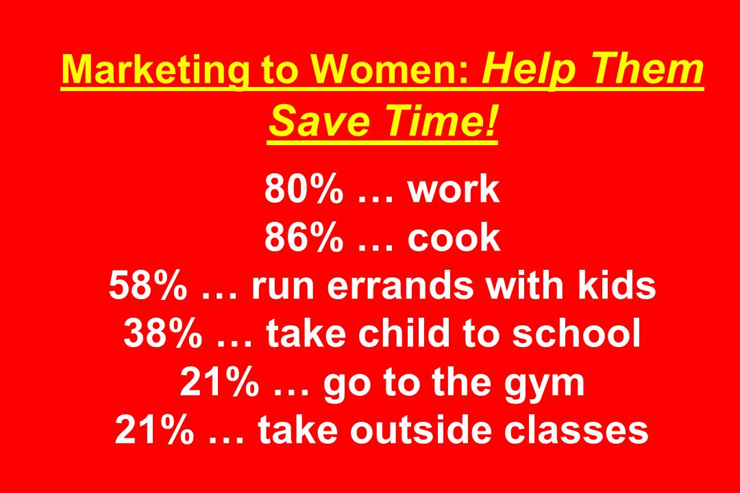 Marketing to Women: Help Them Save Time.
