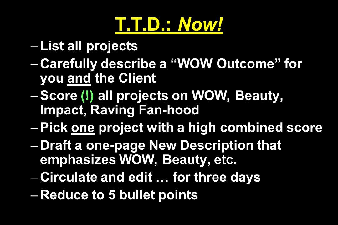 T.T.D.: Now.