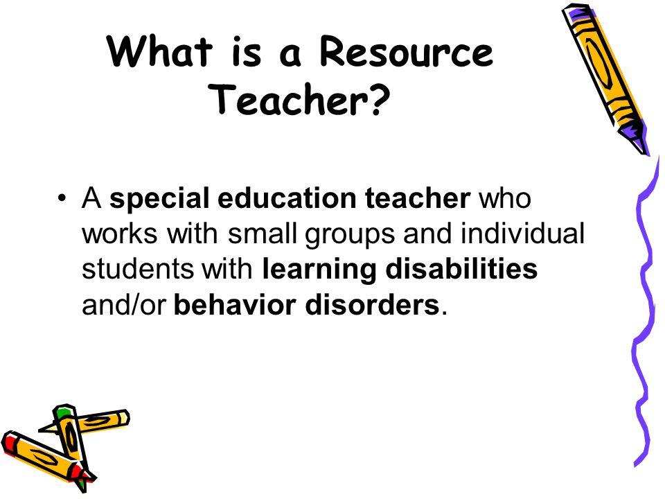 The Resource Room Miss Jen Broeker Resource Teacher. - ppt download