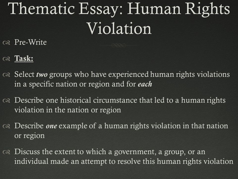 extended essay human rights Overview an extended essay in human rights provides students with an opportunity to undertake an in-depth study of a limited topic in this area of research.