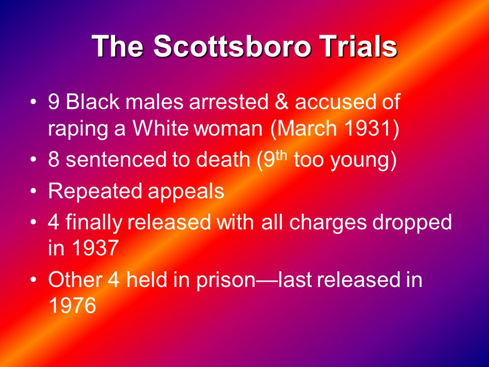 scottsboro trials and to kill a