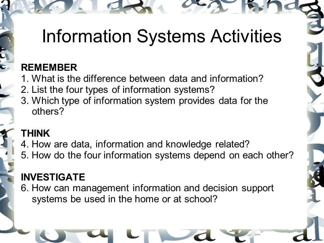 the characteristics of a management information Strategic information management is a salient feature in the world of information technology (it) in a nutshell, strategic information management helps businesses and organizations categorize, store, process and transfer the.