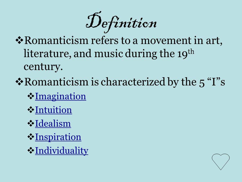 romanticism in literature essay example