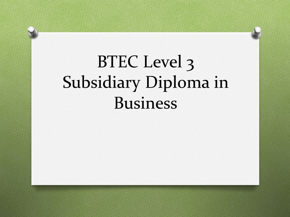 btec subsidiary diploma in hsc essay