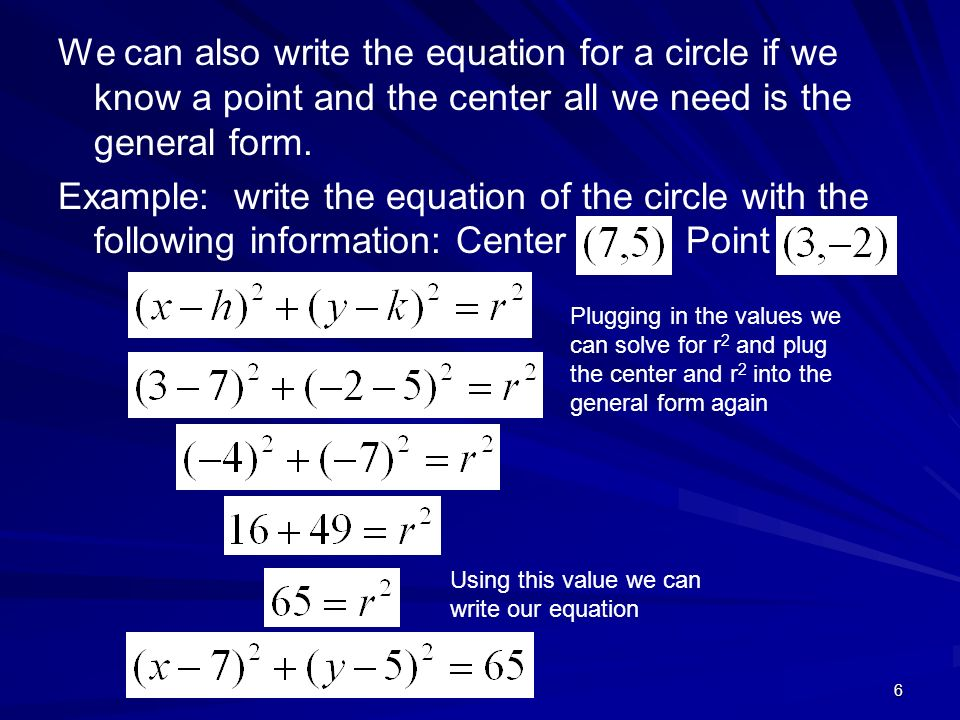 How To Write The Equation Of A Circle In Standard Form Dolap