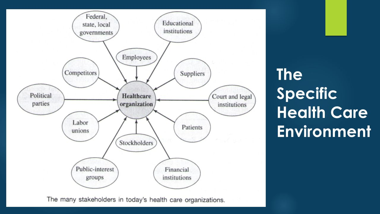The Specific Health Care Environment