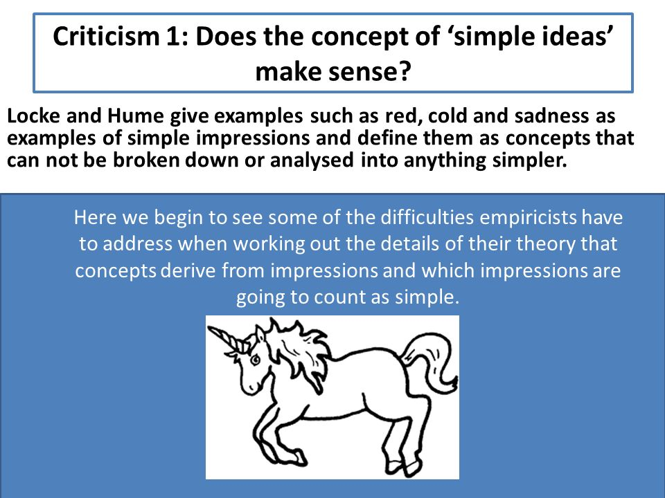 Further Criticisms Of Concept Empiricism Focus To Consider Further