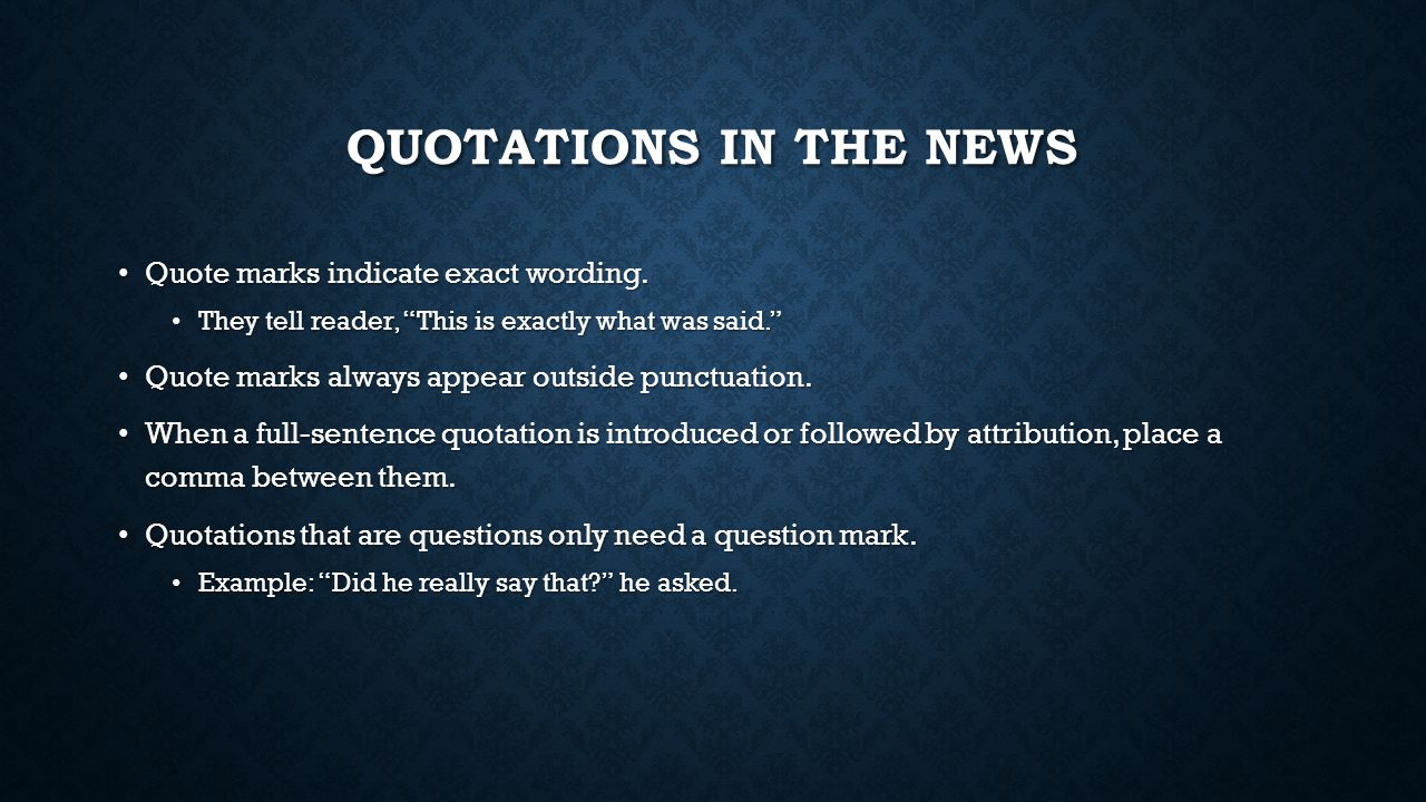 quotes in ap style Associated press style to subscribe to the associated press stylebook online spell out titles with names used in direct quotes with the exception.