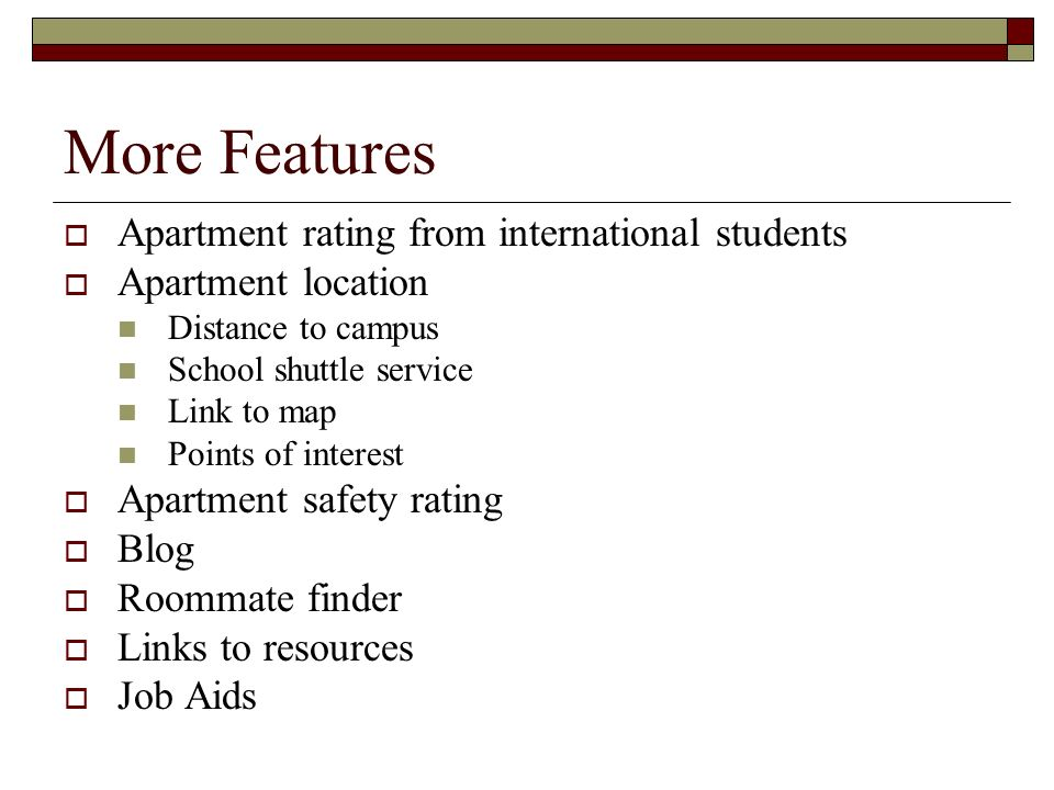 7 More Features  Apartment Rating ...