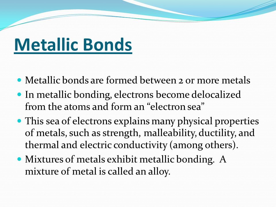 Types of Bonds Notes  Bonds are what hold elements together in a ...