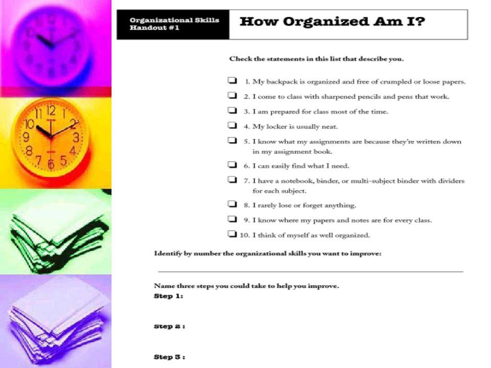 describe organizational skills
