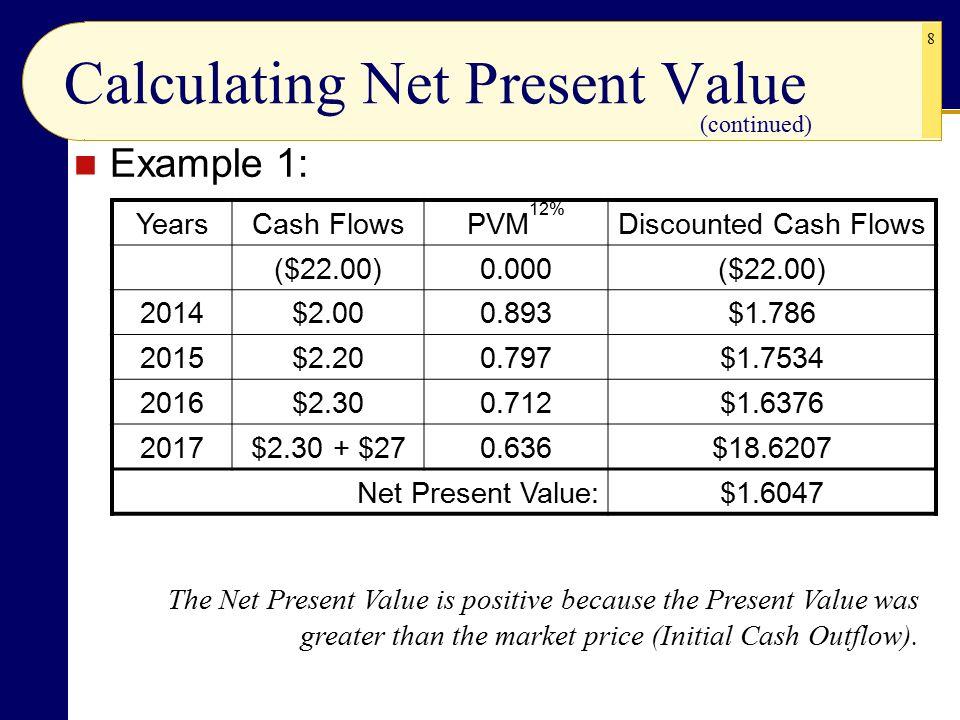 net present value and net cash