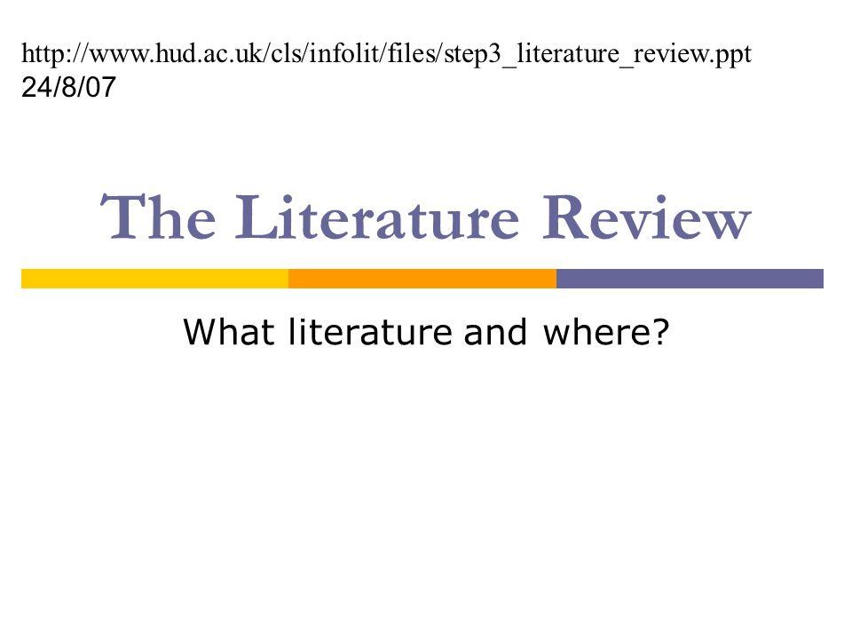 Literature Review Template Nz