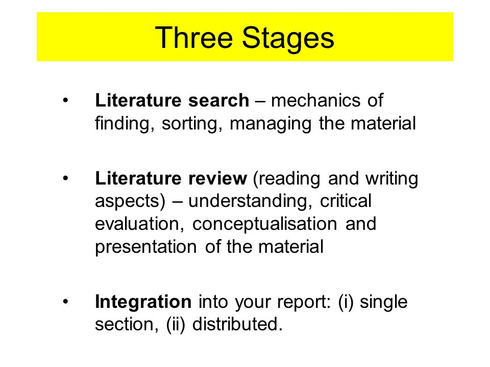 stages in literature review