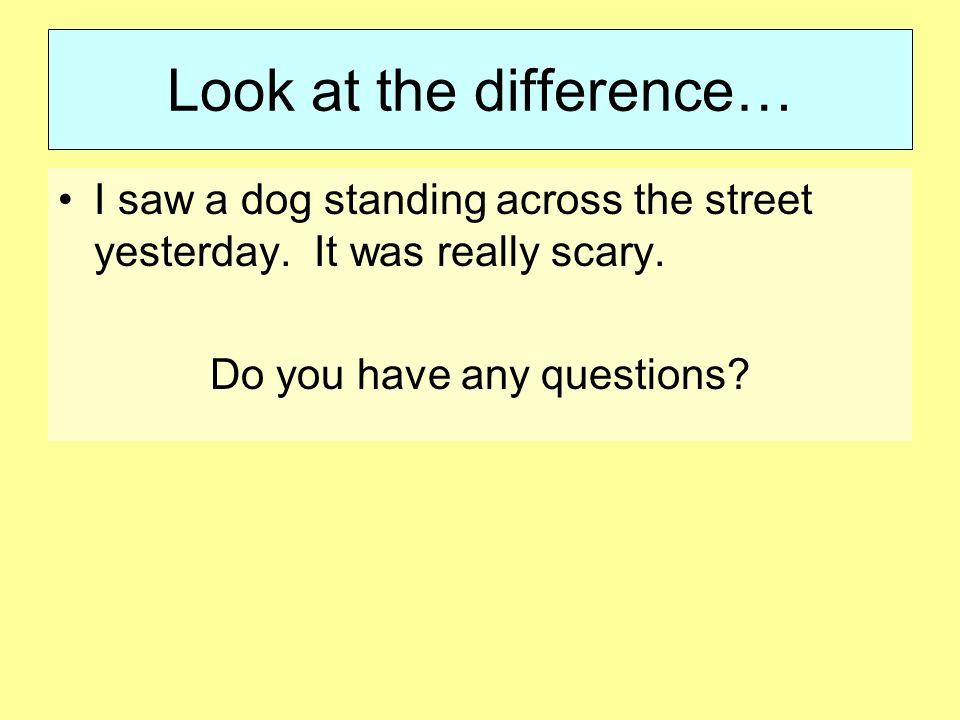 my scary story essay