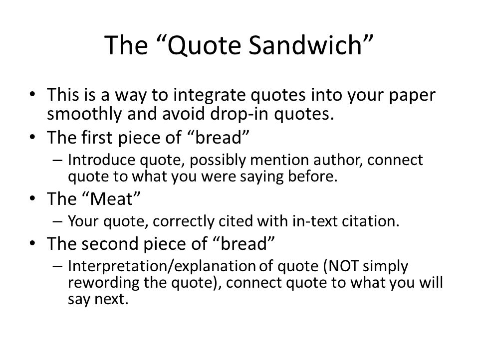 integrating quotations into an essay