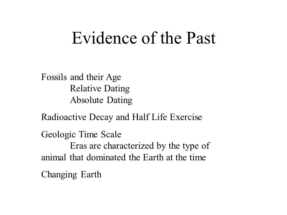 Absolute dating of fossils depends on the decay of