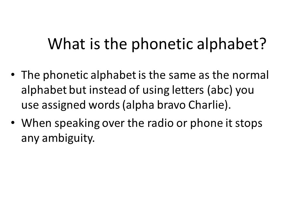 The phonetic alphabet lo to be able to execute a game of what is the phonetic alphabet altavistaventures Images