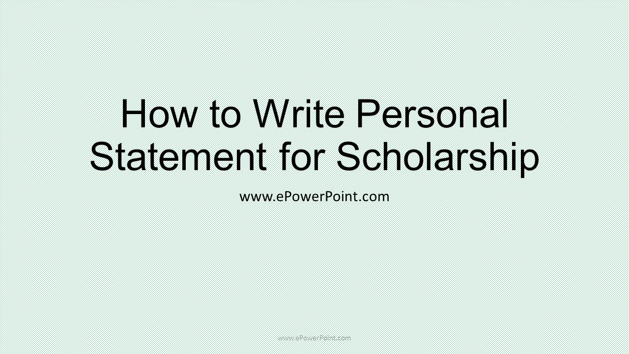 how to write a personal essay for scholarships