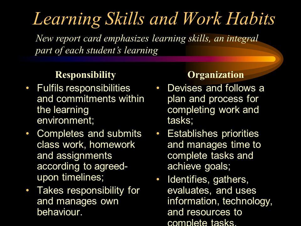 Learning Skills Ontario Responsibility Essay - image 10
