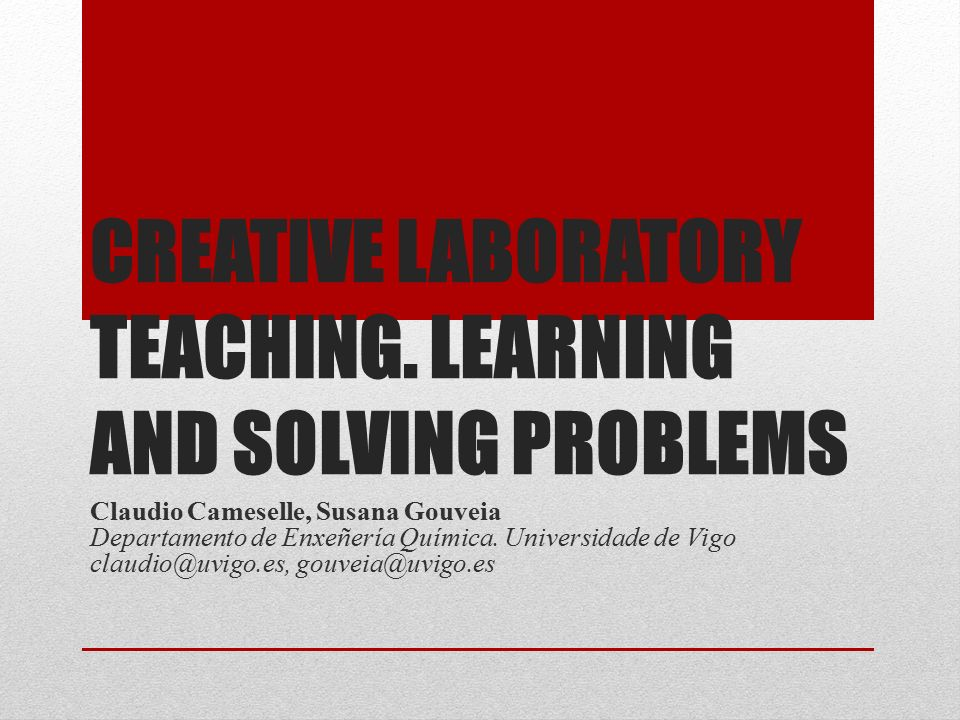 CREATIVE LABORATORY TEACHING.