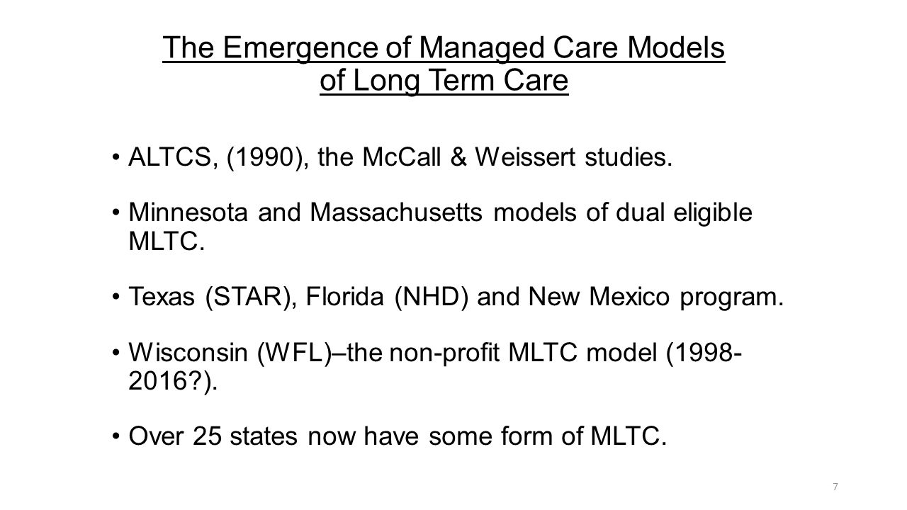 Long Term Care Today and Tomorrow Florida and the U.S. Larry ...