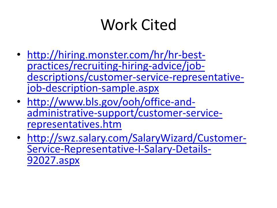 Customer service rep job description Coursework Writing Service ...