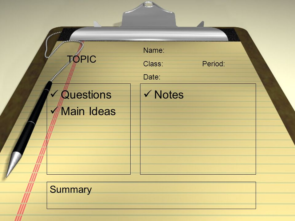 How do you take chapter notes?