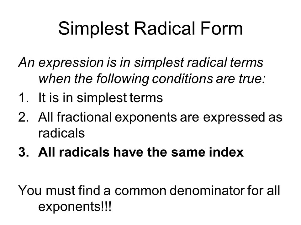 Drill #67: Rationalize the denominators. (33.) Rational Exponents ...