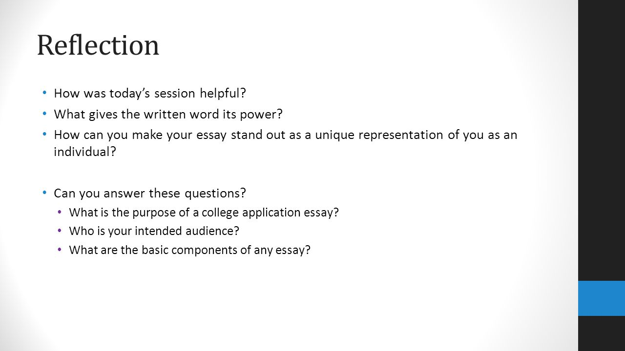 make reflective essay