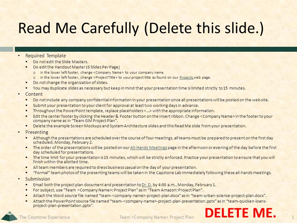 read me carefully (delete this slide.) required template  do not, Presentation templates