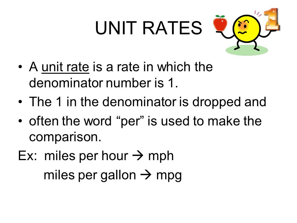 How to Find the Unit Rate in a Table or Graph - YouTube