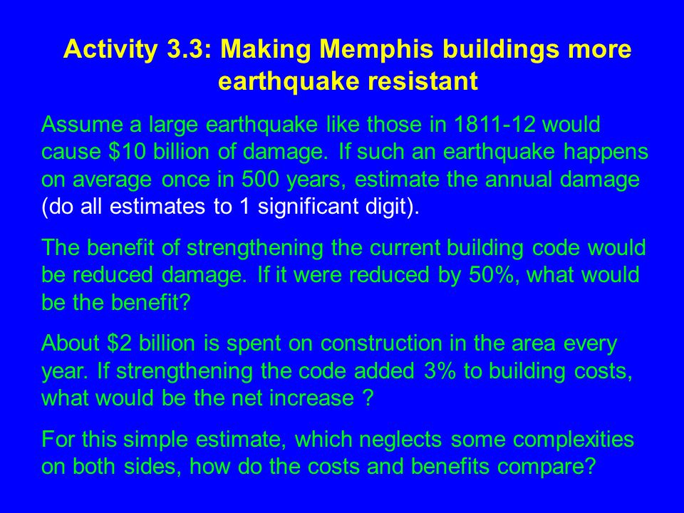Earthquake Characteristics