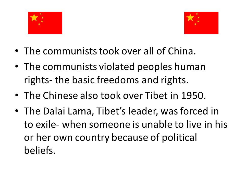 The communists took over all of China.