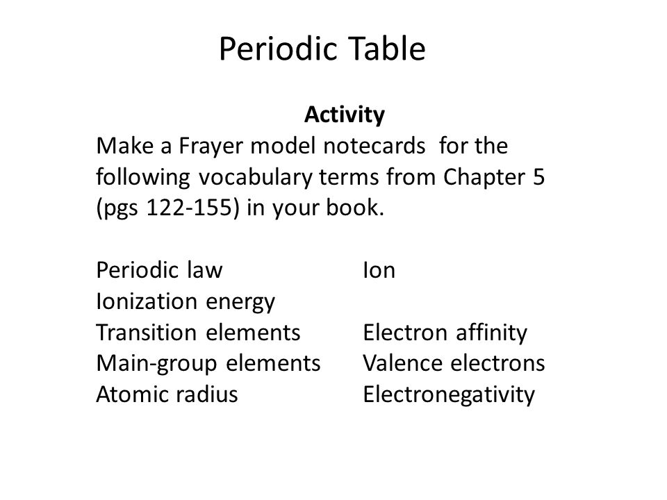 Periodic table warm up which elements are in the noble gas family 4 periodic table activity urtaz Choice Image