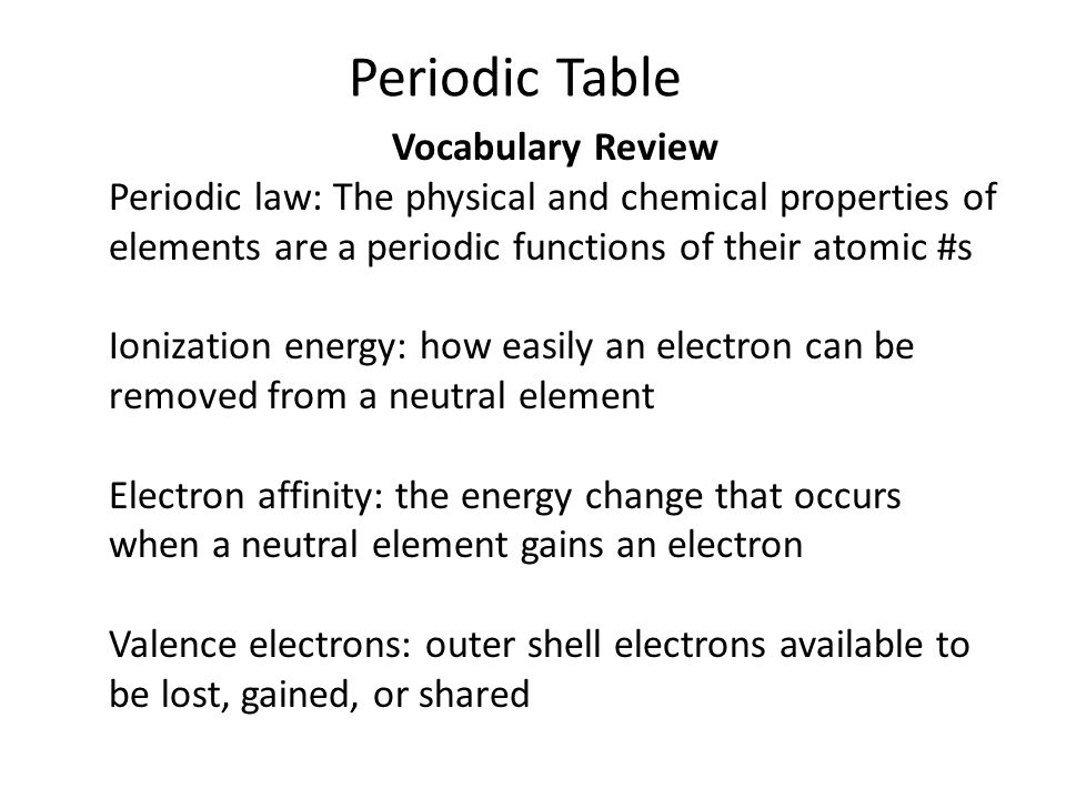 Periodic table warm up which elements are in the noble gas family 8 periodic table vocabulary urtaz Choice Image