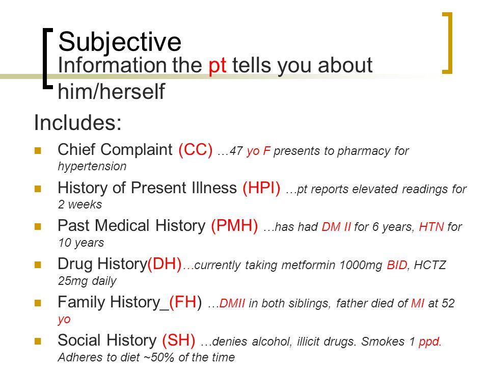 5 Subjective Information ...