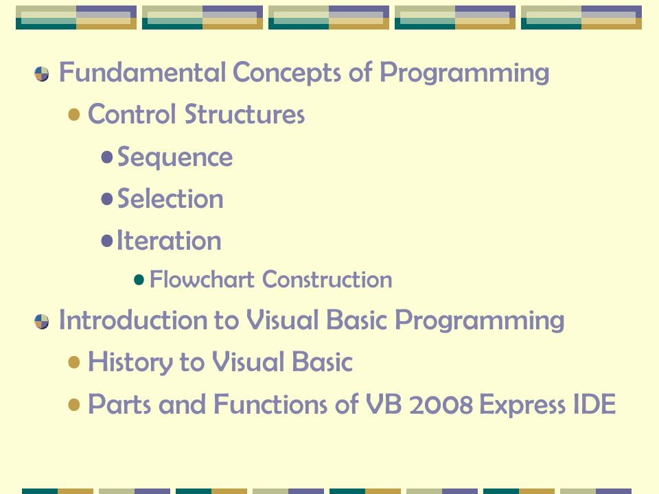 introduction of structured programming concepts Introduction to structured programming with fortran you understand the very basic concepts : structure that executes a specified number of times.