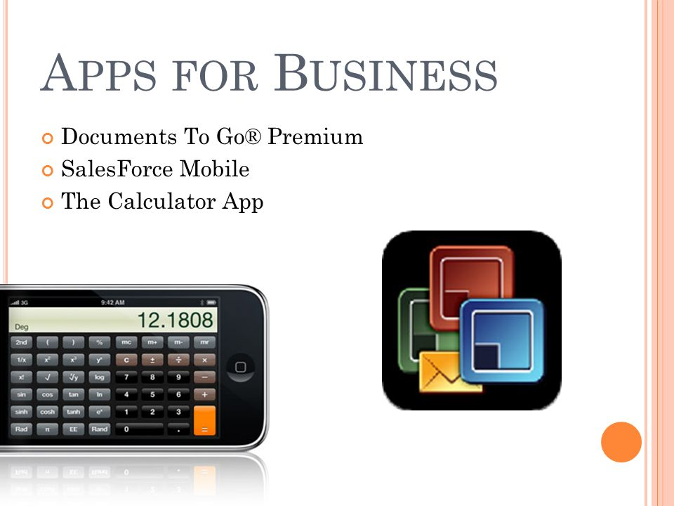 5 A PPS FOR B USINESS Documents To GoR Premium SalesForce Mobile The Calculator App
