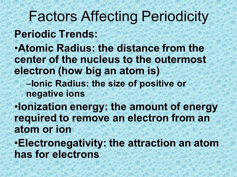 factors affecting the romantic period Investigating the factors affecting the time peiod of a pendulum aim: to investigate the factors affecting the time period of a pendulum introduction.