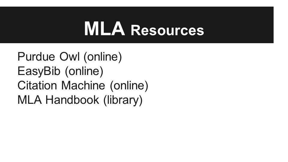 online mla citation machine